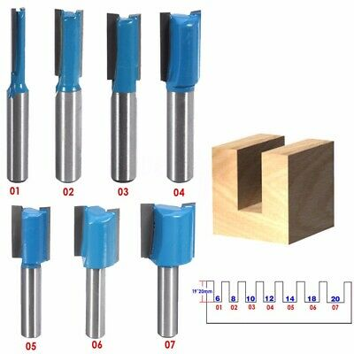 8mm*Woodworking Shank Straight Router Bit Drill For Turning Lathe Cutter Cutting