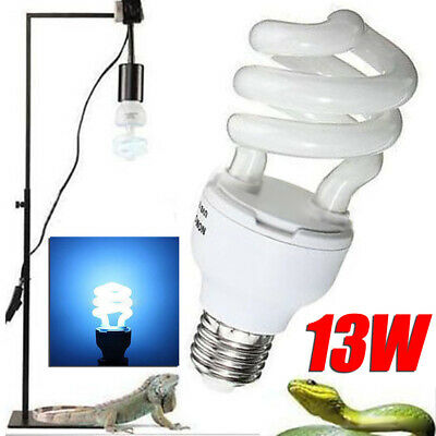 13W Reptile Compact Fluorescent Vivarium Light Lamp Bulb 5.0/10.0 UVB UVA UK