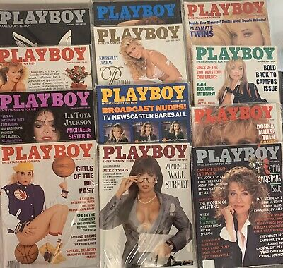 Playboy Magazine Full Year Set 1989 All 12 Issues. Complete Collection. Nude Lot
