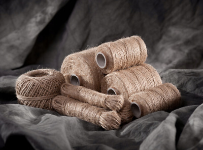 3 Ply or 2 Ply Natural Brown Soft Jute Twine Sisal String Rustic Cord Shabby
