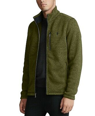 Polo Ralph Lauren Men's NWT Sherpa Zip Up Fleece Jacket Size M $198