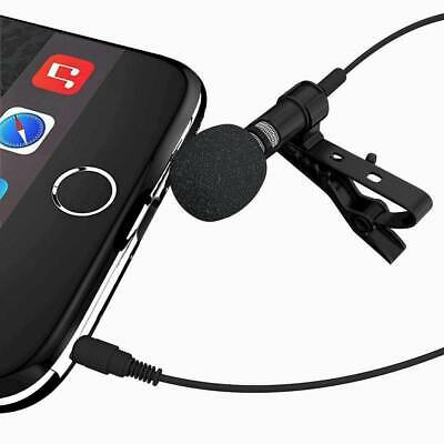 Lavalier Lapel Microphone Clip-on Omnidirectional Condenser for Computer Laptop