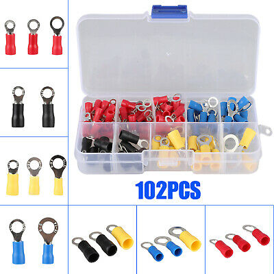 102X 10-22AWG Insulated Spade Electrical Crimp Wire Cable Connector Terminal Kit
