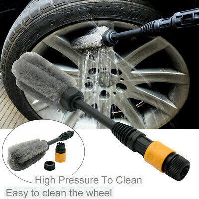 Car Wheel Cleaning Brush Tool Tire Washing Clean Alloy Soft Bristle Cleaner .UK