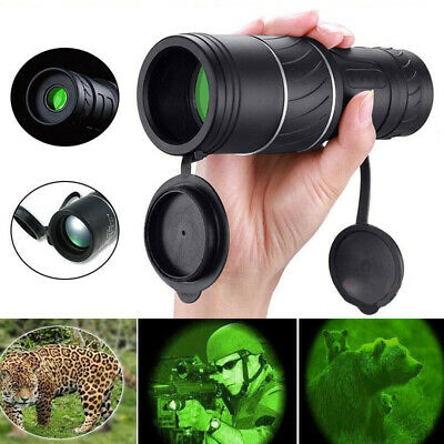 Day Night Vision 40x60 HD Optical Monocular Hunting Camping Handheld Telescope