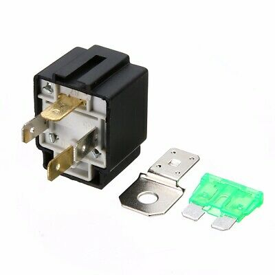 UK .Fused On/Off Automotive Fused Relay 12V 30A 4-Pin Normally Open Car Bike