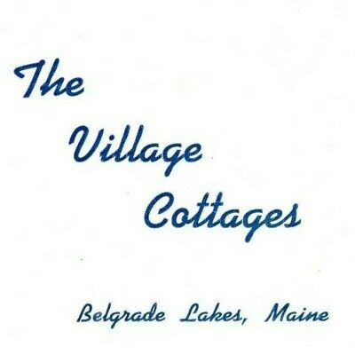 1954 The Village Cottages Brochure  Belgrade Lakes, Maine   Long Lake