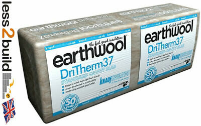 Knauf Earthwool Dritherm 37 Cavity Slab Insulation 50,75,100 x 1 pack