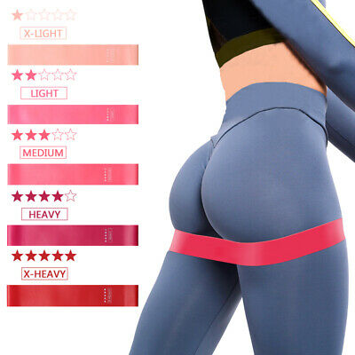 Resistance Bands Circle Workout Home Leg Squat Strength Booty Latex Gym Exercise