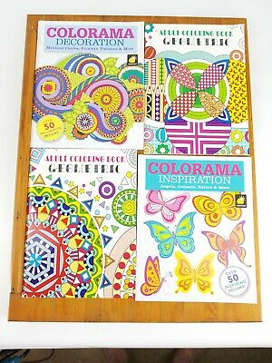 Lot of 4 Unused Adult Coloring Books - SEE PHOTOS FOR TITLES!