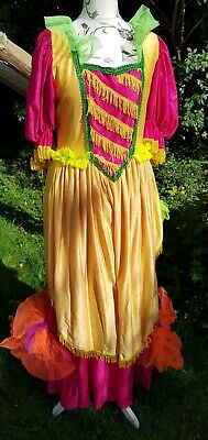 Pantomime Dames Full Skirted Dress Traditional Style