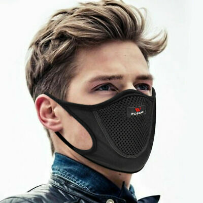 Reusable Cycling Face Shield with Mesh Filter Breathable Anti Dust Mouth-muffle