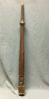 Antique Turned Wood Spindle Baluster Cherry Hardwood Staircase Vtg 384-20B