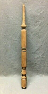 Antique Turned Wood Spindle Baluster Hardwood Staircase Vtg 386-20B