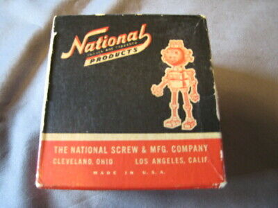 Vintage National Products Flat Head Brass Machine Screws