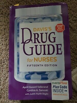 Davis's Drug Guide for Nurses 15th Edition  ISBN: 9780803657052