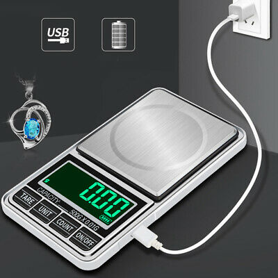 500g/0.1g Digital Electronic LCD Pocket Scales for Weighing Gold Jewellery .UK