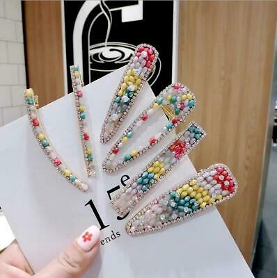 Women Lady Acrylic Crystal Hairpin Hair Clip Bobby Pin Barrette Hair Accessories