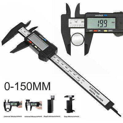 6'' 150mm LCD Digital Vernier Caliper  Measure Ruler Micrometer Tool Gauge .UK