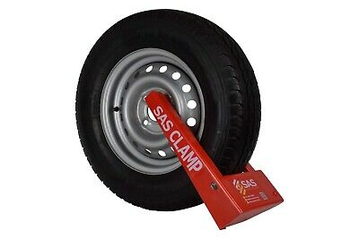 "New SAS HD3 Wheel Clamp, 12"" to 16″ Rims, Trailer, Caravan, FAST & FREE POSTAGE✅"