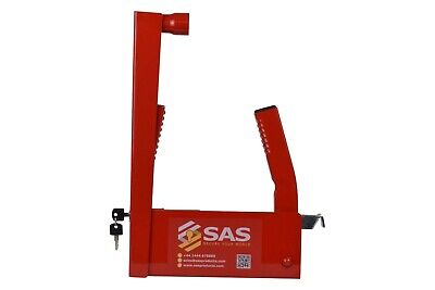 "SAS HD3L Wheel Clamp, 12"" to 16″ Rims, Trailer, Caravan, FAST & FREE POSTAGE✅"