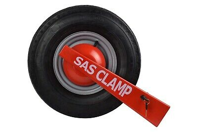 SAS Camping Trailer Wheel Clamp = Centrally Dished Wheels, FAST & FREE POSTAGE✅