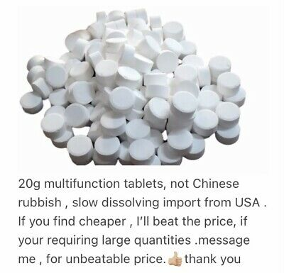 25x20g 4in1 Multifunction Chlorine Tablets for Hot Tub Spa Swimming Pool tablet