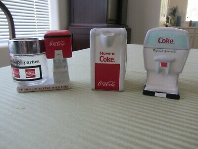 Coca Cola - Coke - Enesco - Creamer / Sugar / Salt and Pepper