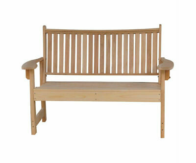 Modern Treated Cypress Outdoor Bench Amish Made Mission Mid Century Style!