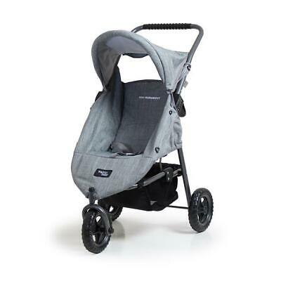 Valco Runabout Dolls Stroller With Swivel Front Wheel - Grey Marle