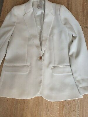 Girls White Suit Jacket River Island Age 10 excellant used condition.