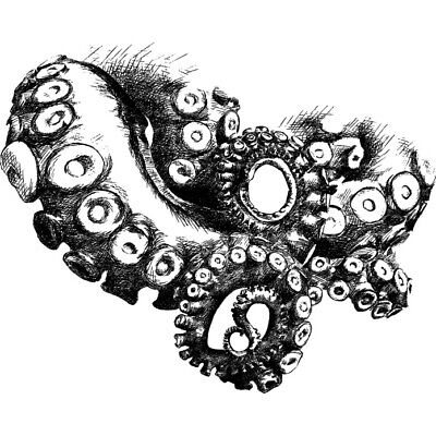 'Octopus Tentacles' Rubber Stamp (RS018228)