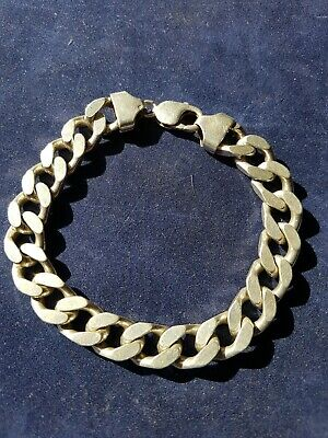 Solid 925 Sterling Silver MENS CURB chain BRACELET  Hallmarked