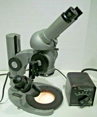 CARL ZEISS STEREO DESKTOP MICROSCOPE 1x TO 4x W/LIGHT & POWER SUPPLY EXC COND.