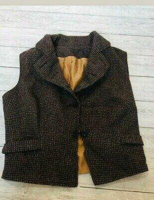 Girls Tweed Riding Gillet/jacket Age 7-8 Excellent Condition