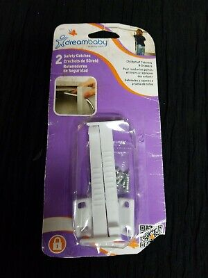 NEW 2-PACK DreamBaby Dream Baby Pet Safety Catches Cupboard Cabinet Drawer Locks