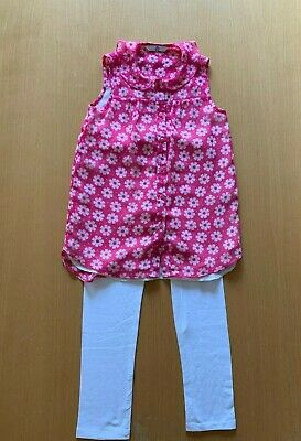 Girls Marks and Spencer tunic and leggings outfit, age 6-7 years
