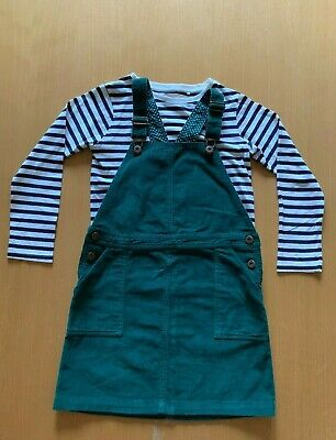 John Lewis Girls Dungaree Dress and Next t-shirt outfit, age 10-11 years