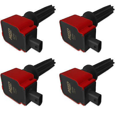 Msd Blaster Ford Red EcoBoost 4-Pack Coils 2.0L/2.3L RS ST MUSTANG
