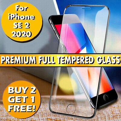 Full Cover Tempered Glass Screen Protector For Apple iPhone SE 2 (2020)