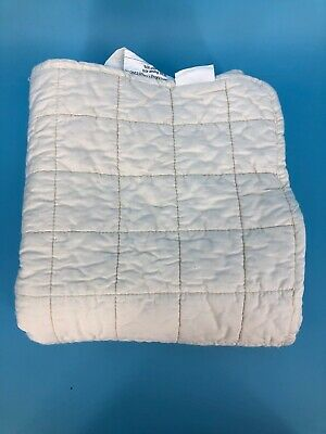 Greenbuds Crib Mattress Pad White Protector Liner Natural Wool Cotton Baby