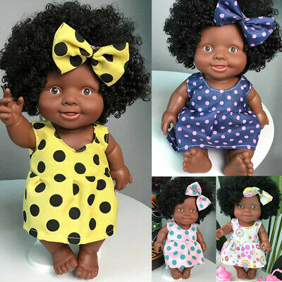 Kawaii Baby Movable Joint African Doll Toy Black Infant Doll Toy Best Gift