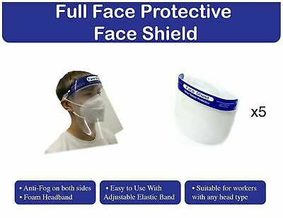 Protective Face Shield pack of 5X