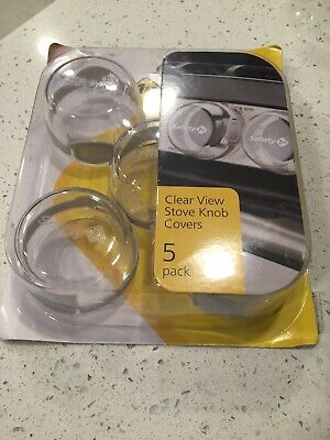 Safety 1st Clear View Stove Knob Covers - 5 Pack