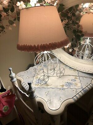 Pretty Pink Cinderella Carriage Lamp
