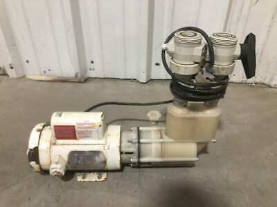 Sethco 17HP Corrosion Resistant Thermoplastic Pump 2850-3450RPM 1PH