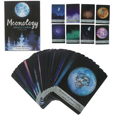 44 Card Moonology Oracle Cards Deck Guidebook Boland Magic Tarot Deck Game SF