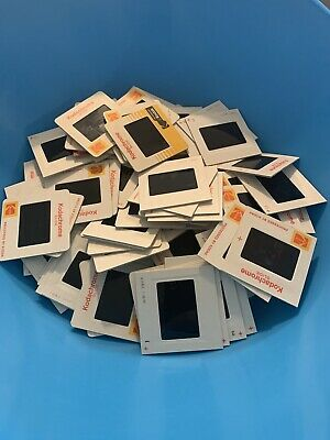 Lot of 100 Vintage Photo Slides Kodak and Others cars people vacation mixed