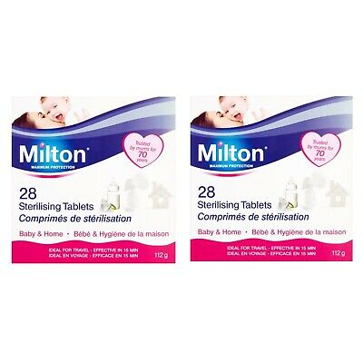 2x Milton Sterilising Tablets Standard Maximum Protection - 56 Total - Baby Home