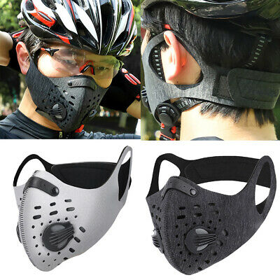 Reusable Washable PM2.5 Anti Air Pollution Face Mask & Activated Carbon Filters